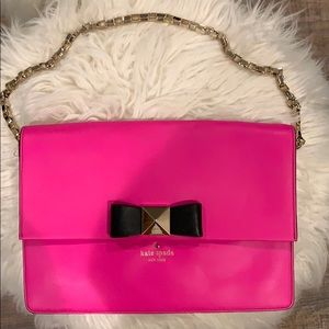 Kate spade purse with gold chain